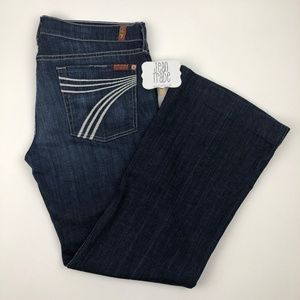 7 for all mankind dojo flare jeans 32x30